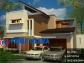 Gambar 3D Fasad Rumah Hook Minimalis 2 Lantai Bp. Edy di Temanggung