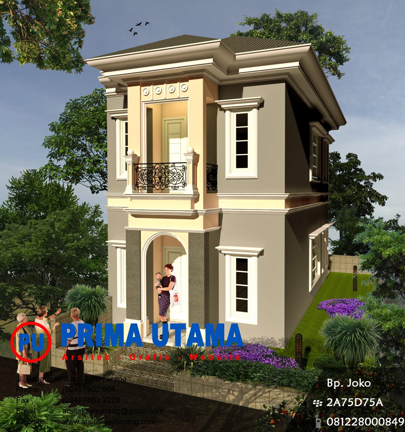 desain rumah classic makassar cv prima utama